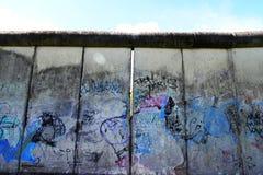 Berlin Wall com grafittis imagem de stock royalty free