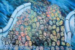 Berlin Wall East Side Gallery Mural stock photography