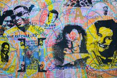 Berlin Wall East Side Gallery Mural royalty free stock images