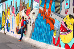 Berlin wall East Side Gallery Royalty Free Stock Photography