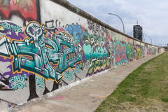 Berlin wall / east side gallery graffiti Stock Photography