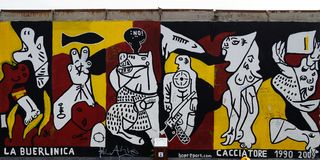 Berlin Wall East Side Gallery La Buerlinica graffiti Royalty Free Stock Photo