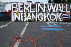 Berlin Wall en Bangkok Foto de archivo libre de regalías