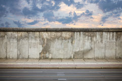 Berlin Wall. In the evening, Germany royalty free stock photos