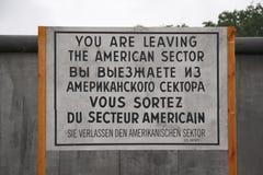 Berlin Wall filmset Royaltyfri Foto