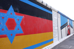 Berlin wall flag Stock Image
