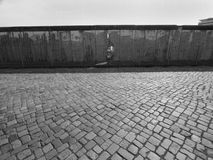 Berlin wall former east germany. The remains of the Berlin wall which divided the city during the cold war years until 1989 Stock Image