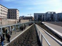 Berlin Wall - Fotografische Tentoonstelling Stock Fotografie