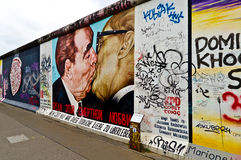 Berlin Wall Fragment Royaltyfria Bilder