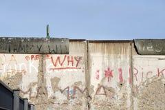 Berlin Wall Fragment Arkivbilder