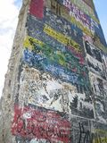 Berlin Wall Fragment. A grafitti covered wall fragment on Potsdammer, Platz, Berlin, Germany Royalty Free Stock Images