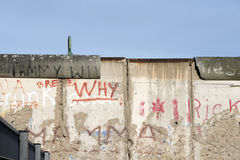 Berlin wall fragment Stock Images