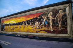 Berlin Wall - galeria da zona leste Fotos de Stock Royalty Free