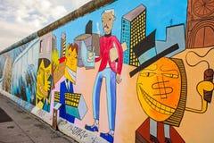 Berlin Wall - galerie de côté est photographie stock libre de droits