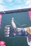 Berlin Wall - galerie de côté est photo libre de droits