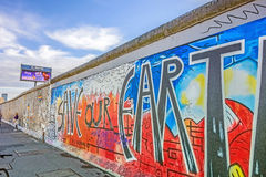 Berlin Wall - galerie de côté est image libre de droits