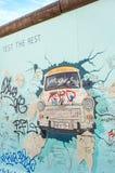 Berlin Wall - galerie de côté est, Berlin images stock