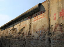 Berlin Wall. The Berlin Wall (German: Berliner Mauer) was a barrier constructed by the German Democratic Republic (GDR, East Germany) starting on 13 August 1961 royalty free stock photography