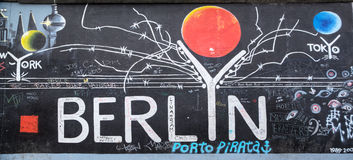 Berlin Wall in Germany Stock Images