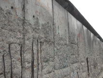 A remaining segment of the Berlin Wall in Berlin, Germany. A remaining segment of the Berlin Wall, Berlin, Germany. Taken from what would have been the western Royalty Free Stock Image