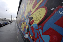 Berlin wall graffiti Royalty Free Stock Image