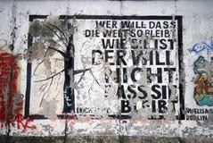 Berlin wall graffiti stock photos