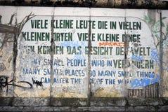 Berlin wall graffiti royalty free stock photo