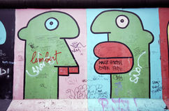 Berlin wall graffiti Royalty Free Stock Photo