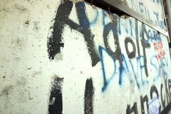 Berlin wall - graffiti and bullet holes Stock Photography