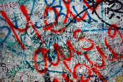 Berlin wall graffiti Royalty Free Stock Image