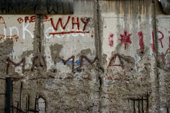 Berlin wall. Grafitti, memorial of the division of the world Royalty Free Stock Images