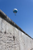 The berlin wall and hot air balloon (highflyer/ hiflyer)) Royalty Free Stock Image