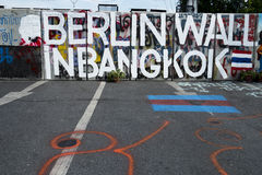 Berlin Wall i Bangkok Royaltyfri Foto