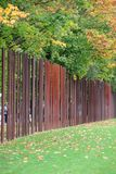 Berlin wall memorial Germany with iron markers in autumn Royalty Free Stock Photo