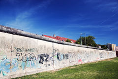 Berlin Wall Memorial with graffiti. Royalty Free Stock Photo