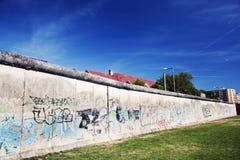 Berlin Wall Memorial with graffiti. Royalty Free Stock Photo