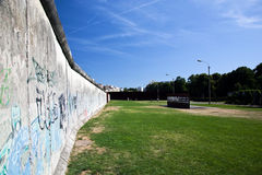Berlin Wall Memorial with graffiti. Stock Images