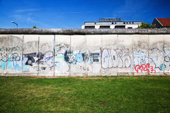 Berlin Wall Memorial with graffiti. Royalty Free Stock Photos