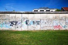 Berlin Wall Memorial with graffiti. Royalty Free Stock Photos
