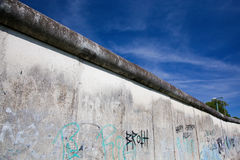 Berlin Wall Memorial with graffiti. Royalty Free Stock Photography
