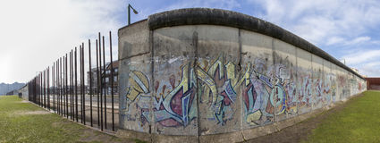 The berlin wall memorial high definition panorama Stock Images