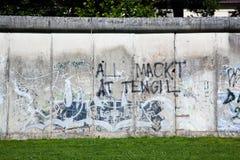 Berlin Wall Memorial mit Graffiti. Lizenzfreies Stockfoto
