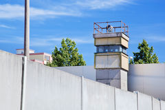 Berlin Wall Memorial, a watchtower Royalty Free Stock Images