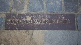 Berlin Wall.metal plate Stock Photo