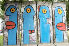 Berlin Wall Painting fotografering för bildbyråer