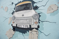 Berlin, the Wall, Painting, East Side Gallery Royalty Free Stock Photo