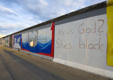 Berlin Wall, part of East Side Gallery Royalty Free Stock Photography