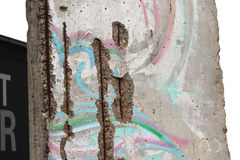Berlin Wall. Part of Berlin wall in ruins Royalty Free Stock Images