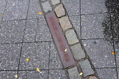 Berlin Wall Path Royalty Free Stock Images