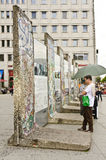 Berlin Wall at Potsdamer Platz, Berlin, Germany Stock Photos
